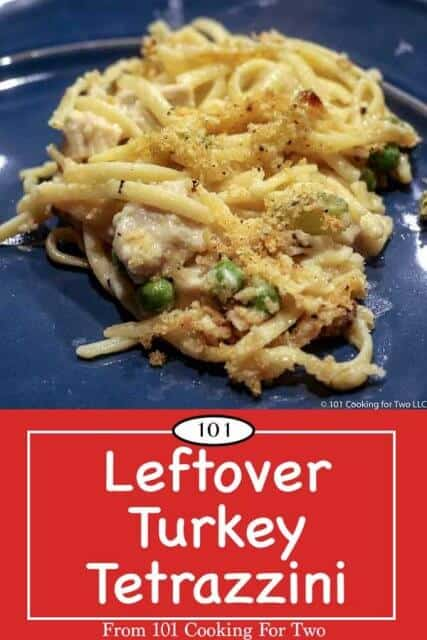 image for pinterest of leftover turkey tetrazzini