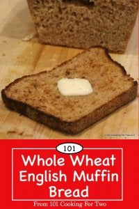 image for Pinterest of Honey Whole Wheat English Muffin Bread