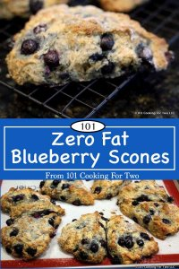 image for Pinterest of Zero Fat Blueberry Scone graphic for Pinterest