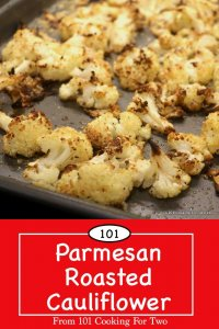 Image for Pinterest of Parmasan Roasted Cauliflower