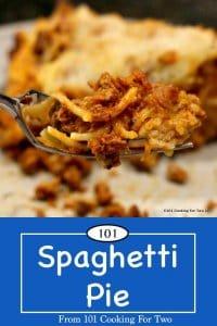image for Pinterest of Spaghetti Pie