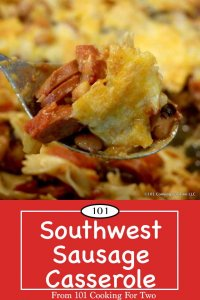 Image for Pinterest for Southwest Sausage Casserole