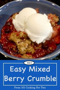 image for Pinterest of Berry Crumble