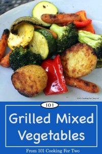 Image for Pinterest of Grilled Mixed Vegetables