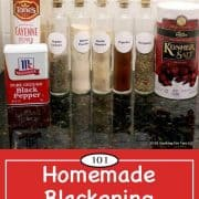 Image for Pinterest of Homemade Blackening Seasoning