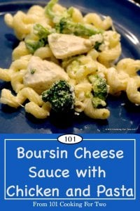 Image for Pinterest of Boursin Cheese Sauce and Chicken