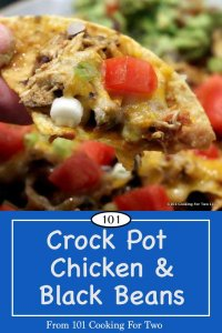 Image for Pinterest of Chicken and Black Beans