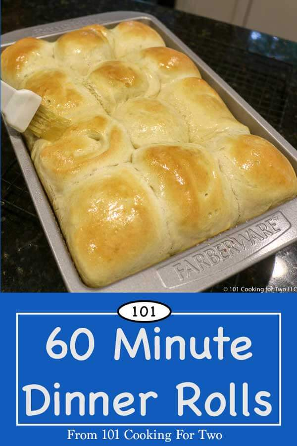 Great homemade yeast dinner rolls in 60 minutes. Just fire up the mixer and follow these easy step by step photo instructions. #DinnerRolls #YeastRolls #QuickDinnerRolls
