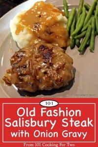 image for Pinterest of salisbury steak