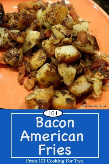 Image for Pinterest of Bacon American Fries