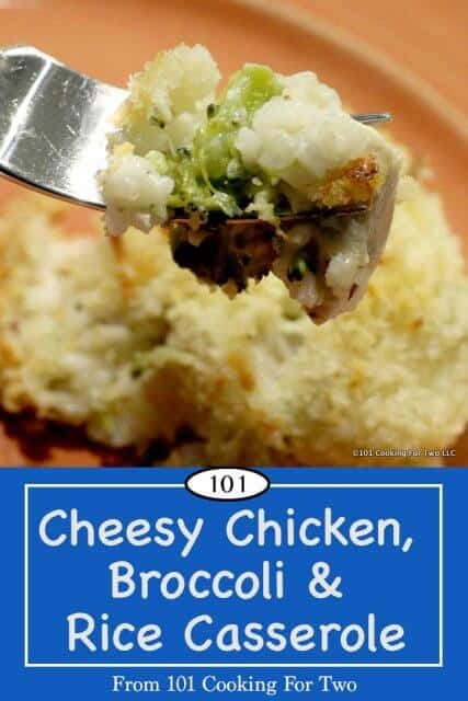 Image or Pinterest of Cheesy Chicken, Broccoli & Rice Casserole
