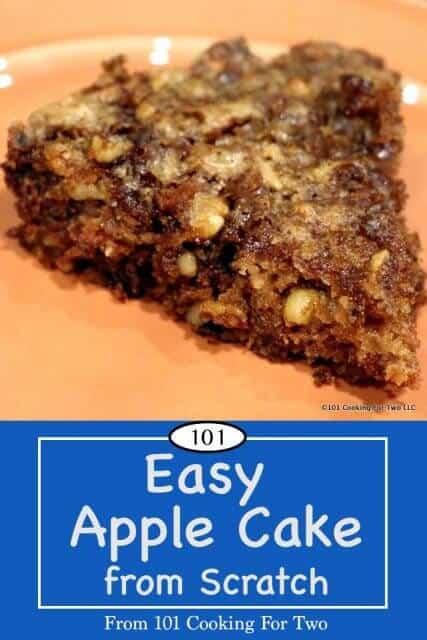 Image for Pinterest of Apple Cake