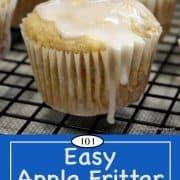 Image of Apple Fritter Muffins for Pinterest