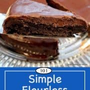 Image for Pinterest of Flourless Chocolate Cake