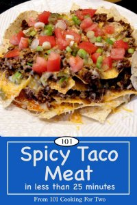 Image for Pinterest of Spicy Taco Meat
