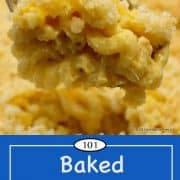 image for Pinterest of baked mac and cheese