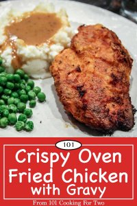 image of Oven Fried Chicken for Pinterest