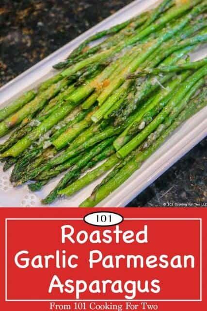 image for Pinterest of parmesan asparagus