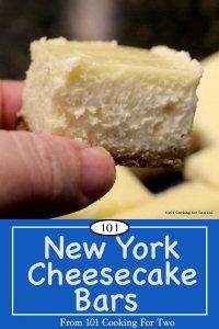 Image for Pinterest of New York Cheesecake Bars