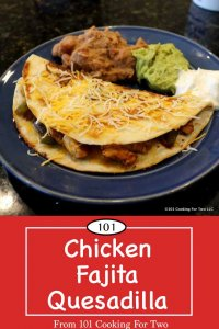 Image for pinterest of Chicken Fajita quesadilia