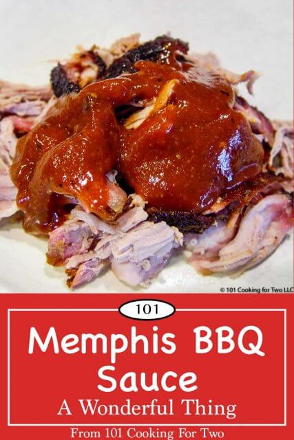 graphic for Pinterest of Memphis BBQ Sauce