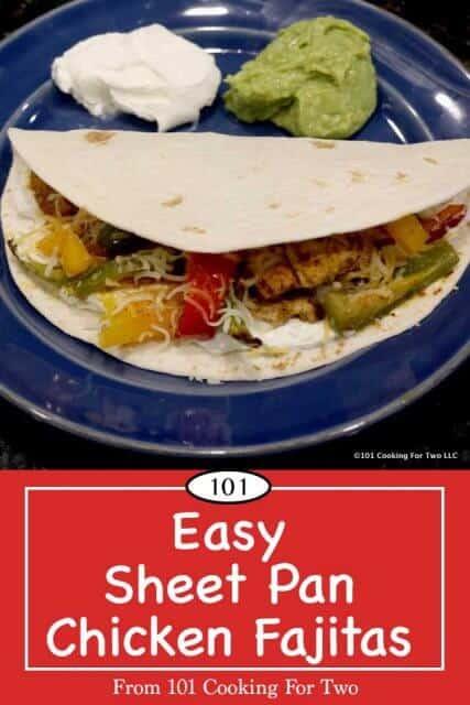 image for Pinterest of Sheet Pan Chicken Fajitas