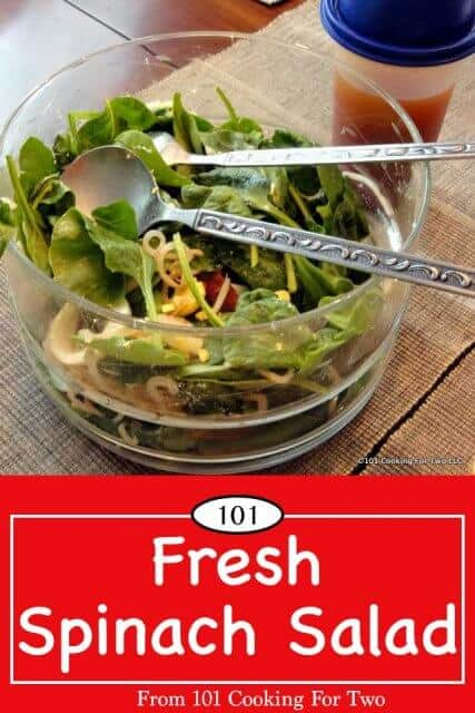 Image of Fresh Spinach Salad for Pinterest