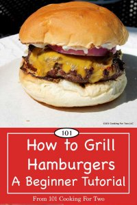 image for Pinterest of how ot grill a hamburger