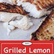 image for Pinterest of grilled lemon butter tilapia