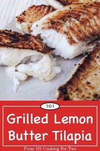 image for Pinterest of grilled lemon butter tilapia