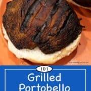 image for pinterest of grilled mushrooms