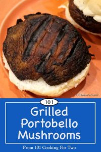 image for pinterest of grilled mushrooms