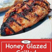 Pinterest Graphic for honey glazed chicken breasts