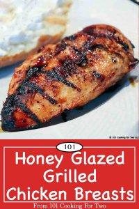 Pinterest Graphic for honey glazed chicken breasts