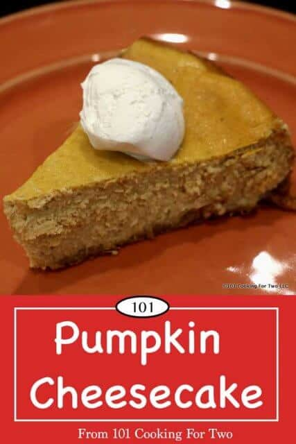 image for Pinterest of Pumpkin Cheesecake
