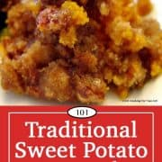image for Pinterest of Sweet Potato Casserole