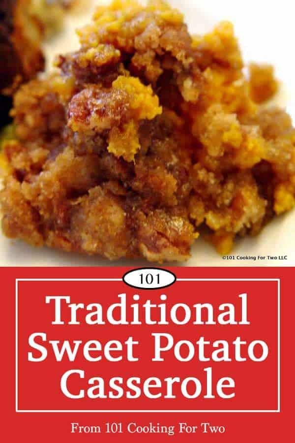 Traditional sweet potato casserole recipe with a wonderful crunchy pecan topping will become a family favorite. A classic holiday side that will have them asking for the recipe.#thanksgiving #sweetpotato #casserole #sidedish #christmas #holiday