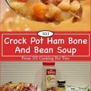 Image for Pinterest for ham and bean soup