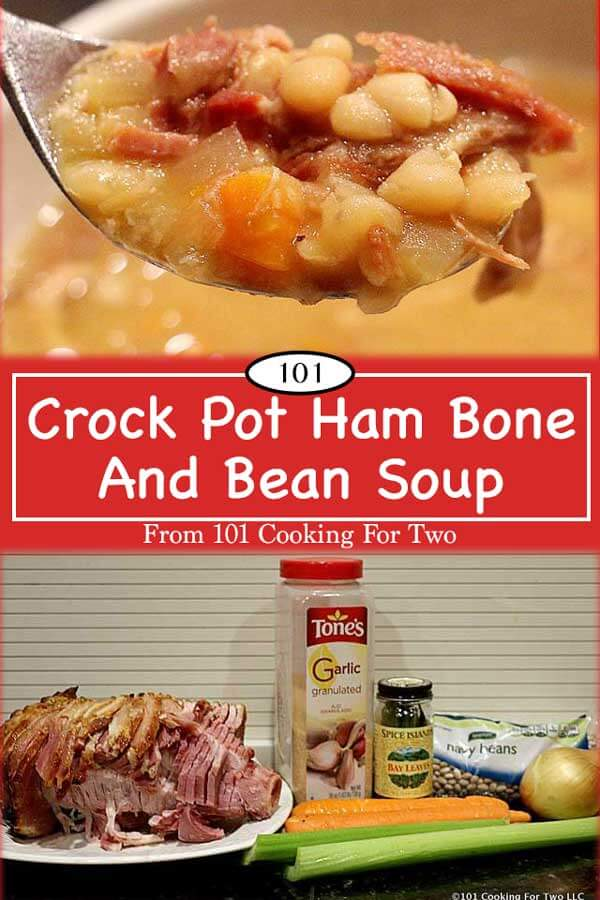 You've got a leftover ham bone so let's make some soup. There is nothing much more classic then ham and white bean soup. Use up that holiday ham bone with this traditional soup. #HamAndBeanSoup #HamBoneSoup #CrockPotHamAndBeanSoup #CrockPotSoup