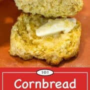 Image for Pinterest of Cornbread Biscuits