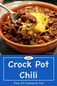image for Pinterest of Crock Pot Chili