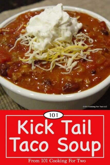 Image for Pinterest of Taco Soup