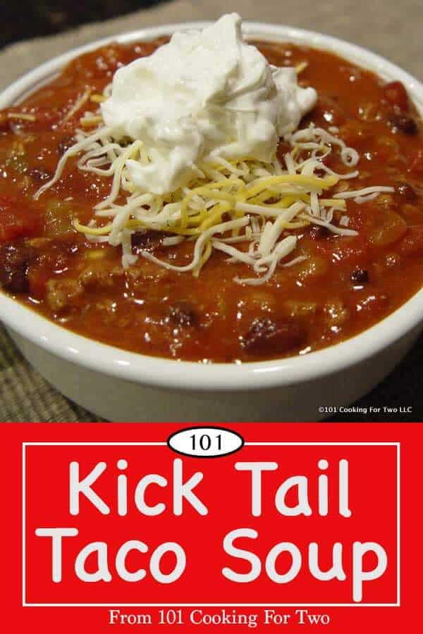This great taco soup is low in fat and calories but is
