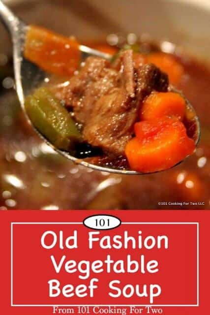 Image for pinterest of vegetable beef soup