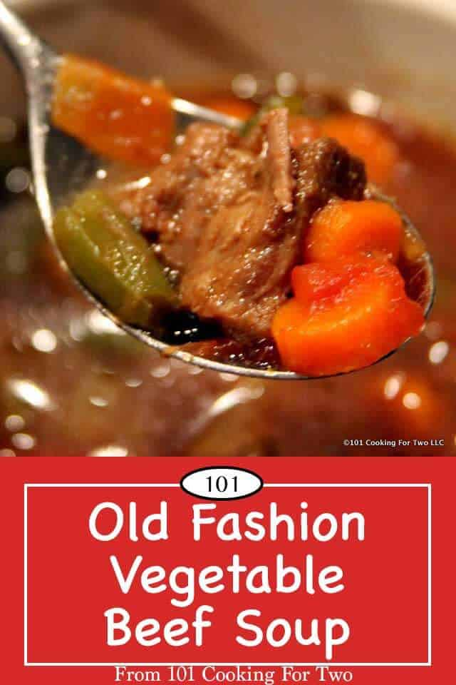 A hardy old fashion vegetable beef soup like grandma would have made. Just follow these easy step by step photo instuctions. #vegetablebeefsoup #soup