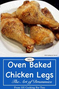 image for Pinterest with Oven Chicken Legs