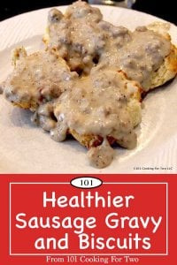 image for Pinterest of biscuits and gravy