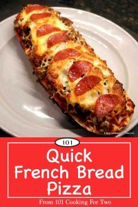 Image for Pinterest of French Bread Pizza