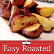 image for Pinterest of Roasted Red Potatoes