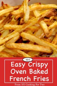 Image for Pinterest of crispy french fries
